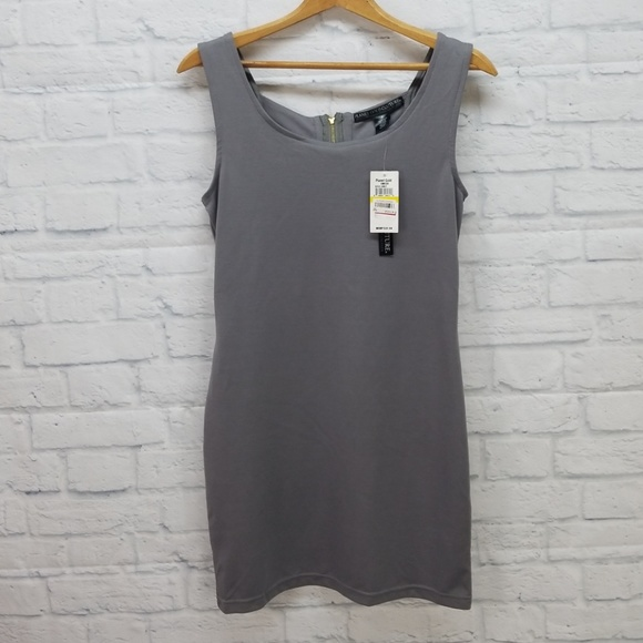 000cc7c154  New  NWT Planet Gold Couture Gray Bodycon Dress M